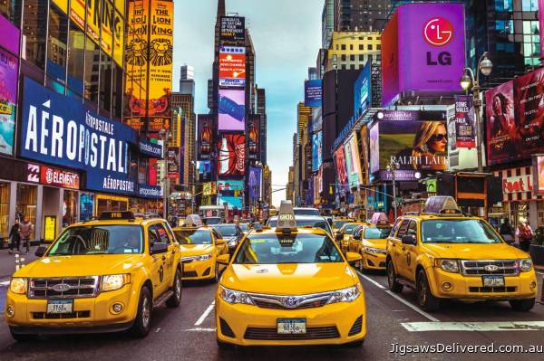 New York Taxi (JUM18527), a 1500 piece jigsaw puzzle by Jumbo.