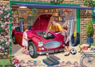 Grandad's Garage (JUM11209), a 500 piece jigsaw puzzle by Jumbo and artist Kevin Walsh. Click to view this jigsaw puzzle.