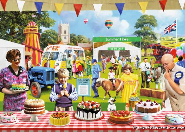 The Baking Fair (JUM11201), a 1000 piece jigsaw puzzle by Jumbo.