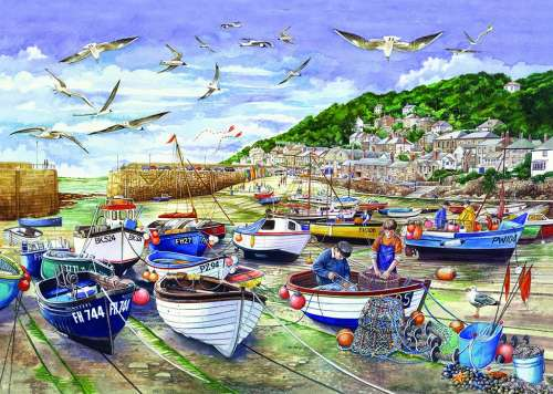 Mousehole, Cornwall (JUM11186), a 1000 piece jigsaw puzzle by Jumbo. Click to view larger image.