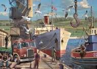 Down at the Docks (JUM11178), a 1000 piece Jumbo jigsaw puzzle.
