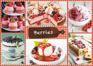 Berries and Recipes (JUM18594), a 1000 piece Jumbo jigsaw puzzle.