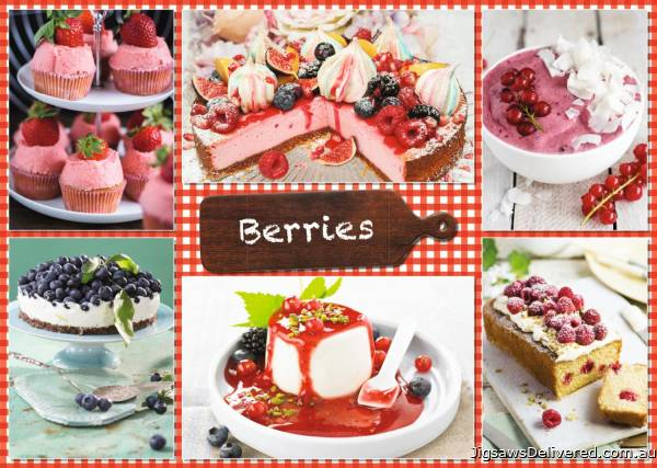 Berries and Recipes (JUM18594), a 1000 piece jigsaw puzzle by Jumbo.