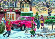December Shopping (JUM11184), a 500 piece jigsaw puzzle by Jumbo and artist Vic McLindon. Click to view this jigsaw puzzle.