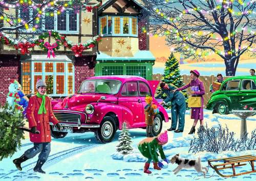 December Shopping (JUM11184), a 500 piece jigsaw puzzle by Jumbo. Click to view larger image.