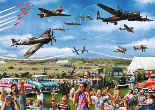 Family Airshow (JUM11195), a 1000 piece jigsaw puzzle by Jumbo. Click to view larger image.