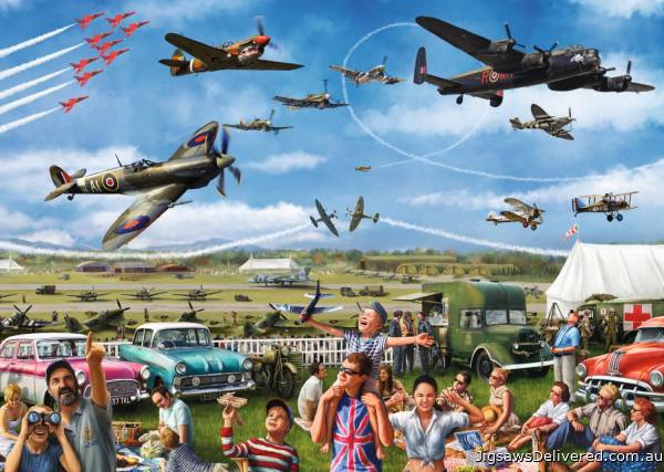 Family Airshow (JUM11195), a 1000 piece jigsaw puzzle by Jumbo.