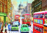 Snow in London City (JUM11192), a 1000 piece Jumbo jigsaw puzzle.