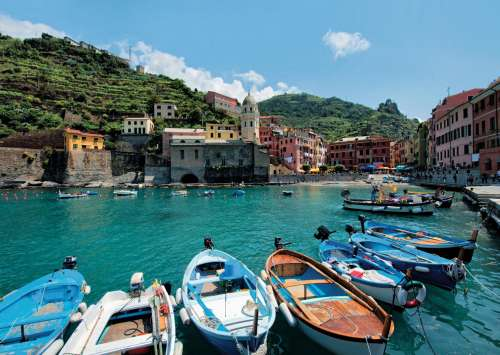 Cinque Terre (Large Pieces) (JUM18516), a 200 piece jigsaw puzzle by Jumbo. Click to view larger image.