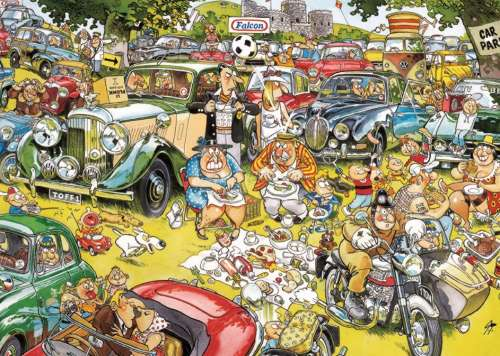 Picnic in the Park (JUM11199), a 1000 piece jigsaw puzzle by Jumbo. Click to view larger image.
