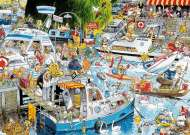 Cruise Chaos (JUM11198), a 1000 piece jigsaw puzzle by Jumbo and artist Graham Thompson. Click to view this jigsaw puzzle.