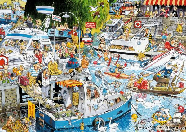 Cruise Chaos (JUM11198), a 1000 piece jigsaw puzzle by Jumbo.