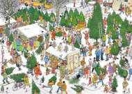 Christmas Tree Market (JUM19062), a 2000 piece jigsaw puzzle by Jumbo and artist Jan van Haasteren. Click to view this jigsaw puzzle.