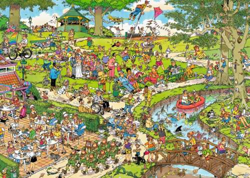 The Park (Large Pieces) (JUM19070), a 500 piece jigsaw puzzle by Jumbo. Click to view larger image.