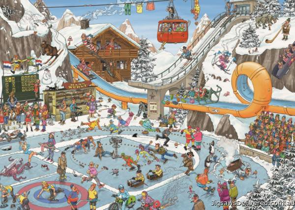 Winter Games (JUM19065), a 1000 piece jigsaw puzzle by Jumbo.