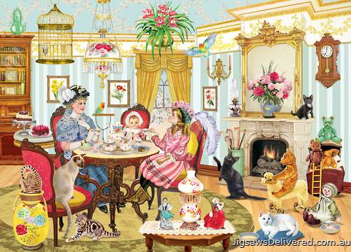 High Tea with Mum (Looking Back) (HOL770229), a 1000 piece jigsaw puzzle by Holdson.