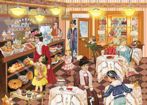 Ben's Confectionary (Looking Back) (HOL770205), a 1000 piece jigsaw puzzle by Holdson. Click to view larger image.