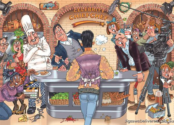 Celebrity Chief Chef! (Original Wasgij 26) (HOL770274), a 1000 piece jigsaw puzzle by Holdson.