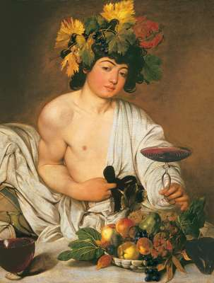 Bacco (Caravaggio) (CLE 31445), a 1000 piece jigsaw puzzle by Clementoni. Click to view larger image.