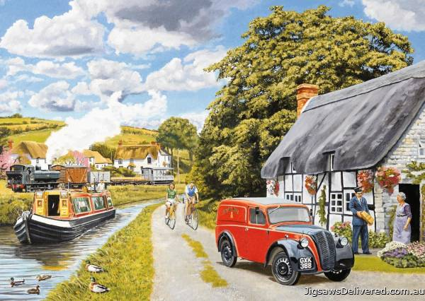 Parcel for Canal Cottage (Large Pieces) (JUM11214), a 200 piece jigsaw puzzle by Jumbo.