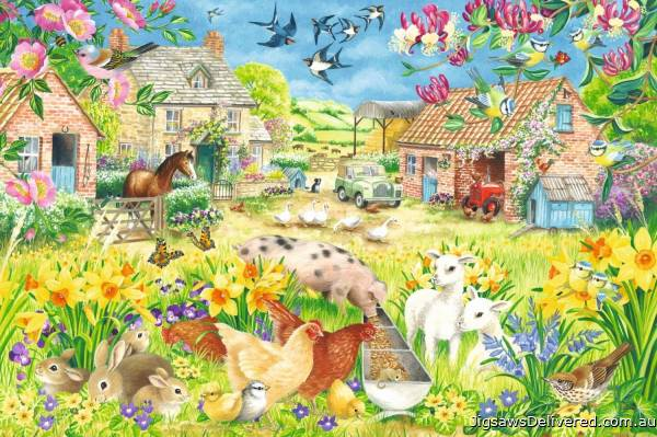 Lambing Season (Large Pieces) (JUM11212), a 500 piece jigsaw puzzle by Jumbo.