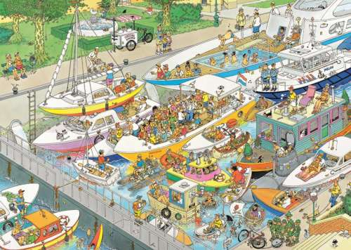 The Locks (JUM19068), a 2000 piece jigsaw puzzle by Jumbo. Click to view larger image.