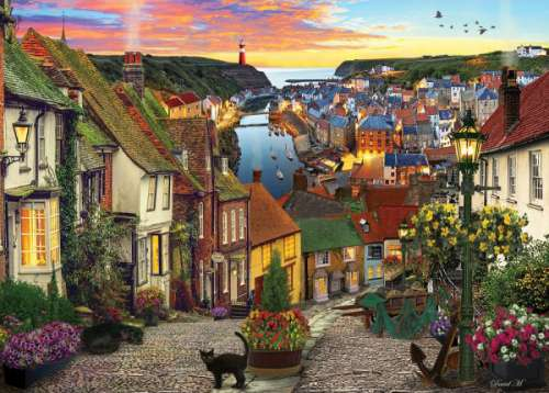 Harbour Village (HOL770434), a 1000 piece jigsaw puzzle by Holdson. Click to view larger image.