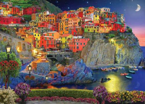 Cinque Terre (HOL770410), a 1000 piece jigsaw puzzle by Holdson. Click to view larger image.
