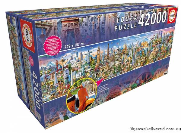 Around the World (42000pc) (EDU17570), a 42000 piece jigsaw puzzle by Educa.