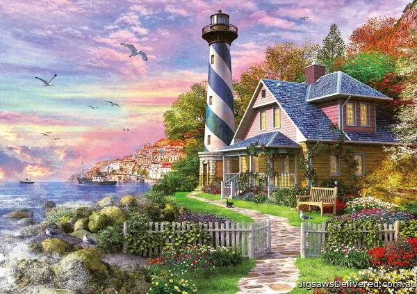 Lighthouse at Rock Bay (1000pc) (EDU17740), a 1000 piece jigsaw puzzle by Educa.
