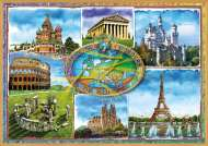 Seven Wonders of Europe (EDU17667), a 1500 piece Educa jigsaw puzzle.