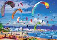 Kite Surfing (EDU17963), a 1000 piece Educa jigsaw puzzle.