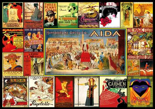 Collage of Operas (EDU17676), a 3000 piece jigsaw puzzle by Educa. Click to view larger image.
