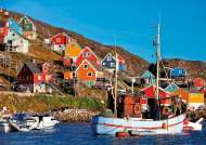 Nordic Fishing Village (EDU17745), a 1000 piece Educa jigsaw puzzle.