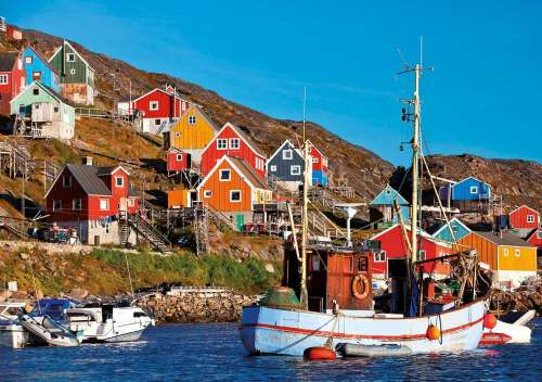 Nordic Fishing Village (EDU17745), a 1000 piece jigsaw puzzle by Educa. Click to view larger image.