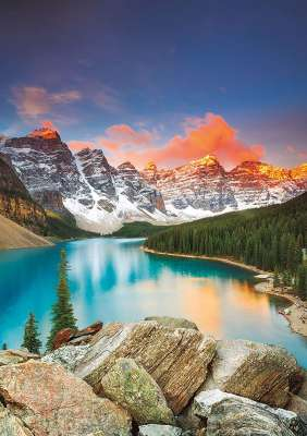 Moraine Lake, Banff National Park, Canada (EDU17739), a 1000 piece jigsaw puzzle by Educa. Click to view larger image.