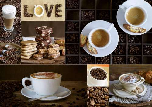 Coffee (EDU17663), a 1000 piece jigsaw puzzle by Educa. Click to view larger image.