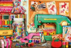 Sewing Corner (EDU17660), a 1000 piece Educa jigsaw puzzle.