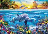 Family of Dolphins (EDU17672), a 2000 piece Educa jigsaw puzzle.