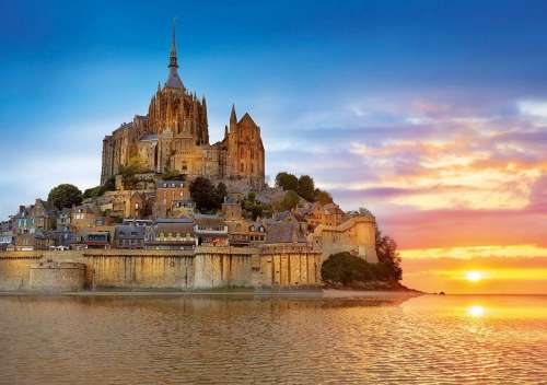 Mont St Michel (EDU17665), a 1000 piece jigsaw puzzle by Educa. Click to view larger image.