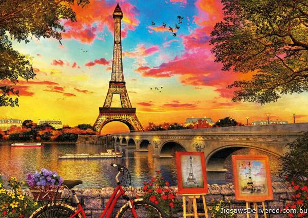 Sunset in Paris (EDU17675), a 3000 piece jigsaw puzzle by Educa.
