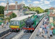 Corfe Castle (At the Station) (HOL770526), a 1000 piece Holdson jigsaw puzzle.