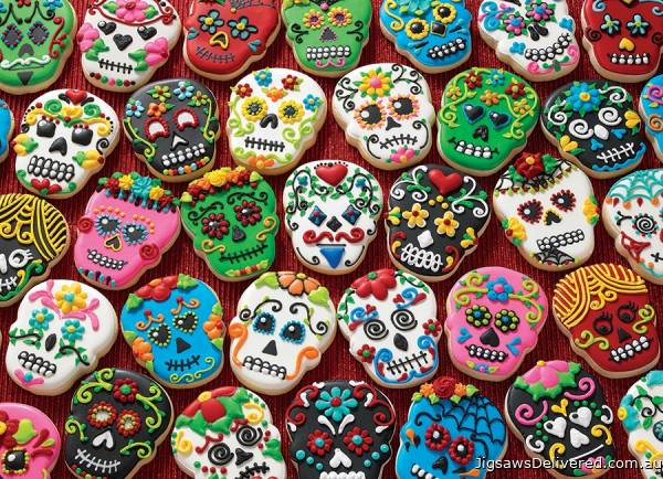 Sugar Skull Cookies (COB80144), a 1000 piece jigsaw puzzle by Cobble Hill.