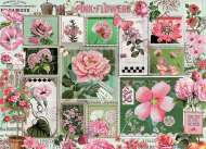 Pink Flowers (COB80042), a 1000 piece Cobble Hill jigsaw puzzle.