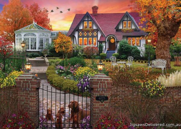 Conservatory House (Home Sweet Home) (HOL770700), a 1000 piece jigsaw puzzle by Holdson.
