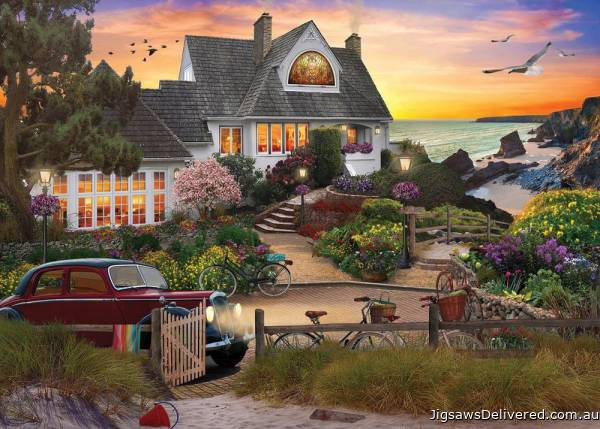 Seaside Hill (Home Sweet Home) (HOL770731), a 1000 piece jigsaw puzzle by Holdson.