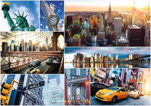 New York City Collage (TRE45006), a 4000 piece jigsaw puzzle by Trefl. Click to view larger image.