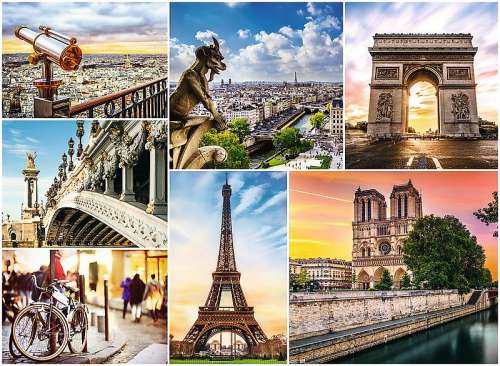 The Magic of Paris (TRE33065), a 3000 piece jigsaw puzzle by Trefl. Click to view larger image.