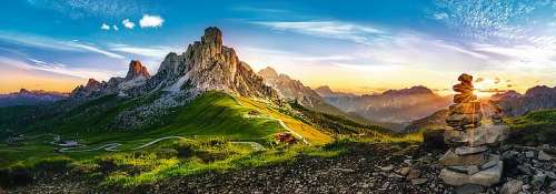 Dolomites (Panorama) (TRE29038), a 1000 piece jigsaw puzzle by Trefl. Click to view larger image.