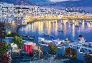 Mykonos at Sunset, Greece (TRE26144), a 1500 piece Trefl jigsaw puzzle.